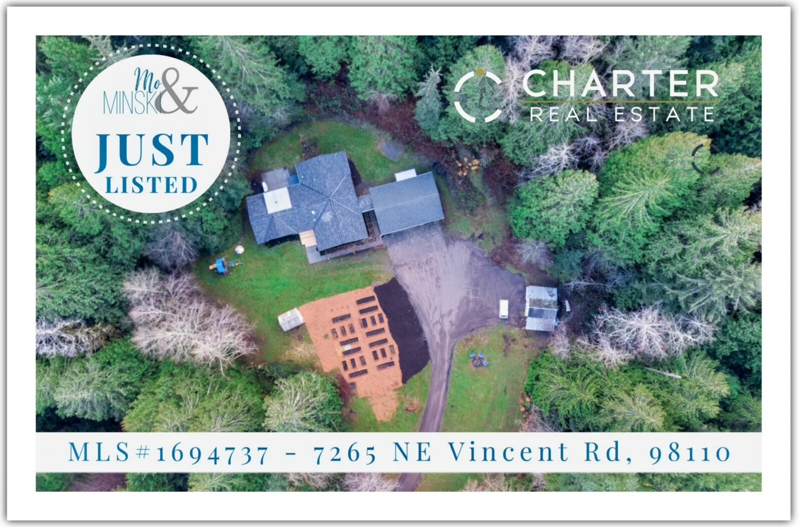 7265 NE VINCENT RD, BAINBRIDGE ISLAND _ 3 BR, 2 BT,  2,160 SF,  2.58 ACRES _ $795K _ MLS# 1694737