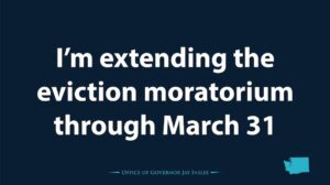 Inslee COVID 19 moratorium extension march 31