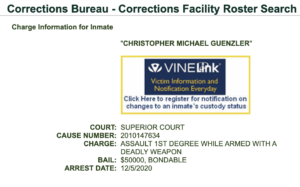 CHRISTOPHER MICHAEL GUENZLER - Corrections Bureau - Corrections Facility Roster Search