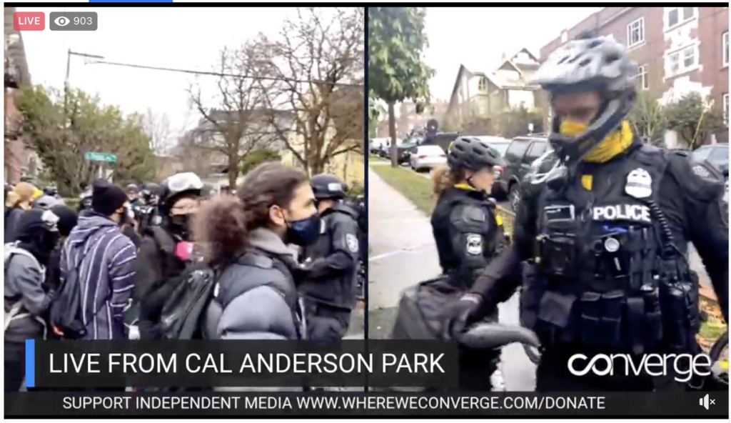 ConvergeMedia Coverage of homeless sweeps at Cal Anderson Park