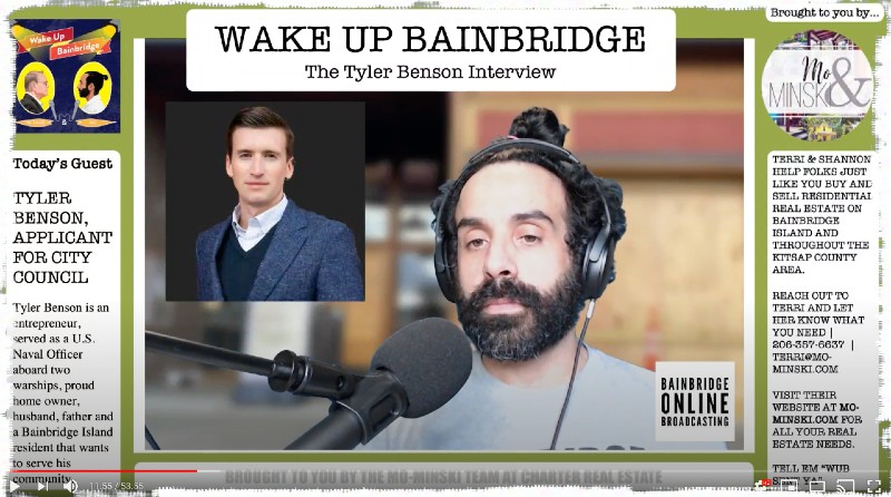 TYLER BENSON INTERVIEW WAKE UP BAINBRIDGE